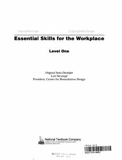 Essential Skills for the Workplace PDF