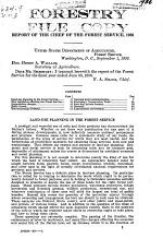 Report of the Chief - Forest Service