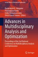 Advances in Multidisciplinary Analysis and Optimization PDF