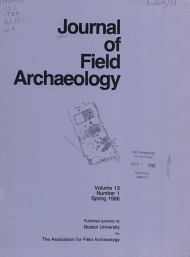 Journal of Fiel Archaeology PDF