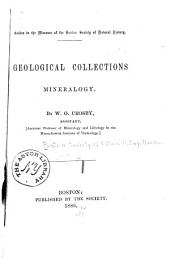 Geological Collections: Mineralogy