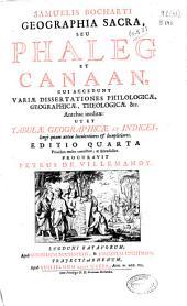 Samuelis Bocharti Geographia Sacra seu Phalegh et Canaan ...
