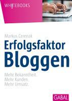 Erfolgsfaktor Bloggen PDF