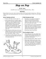Dr. Seuss Literature Activities--Hop on Pop