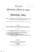 Memoirs of the Geological Survey of India: Palæontologia Indica