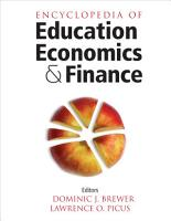 Encyclopedia of Education Economics and Finance PDF