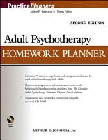 Adult Psychotherapy Homework Planner PDF
