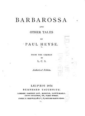 Barbarossa and Other Tales PDF