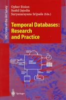 Temporal Databases  Research and Practice PDF