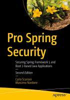 Pro Spring Security PDF