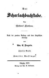 Der Scharlachbuchstabe: Von Nathaniel Hawthorne. Aus dem Englischen von Wm. E. Drugulin, Band 1