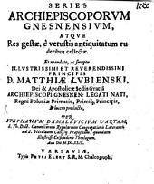 Series Archiepiscoporum Gnesnensium
