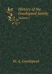 History of the Goodspeed family