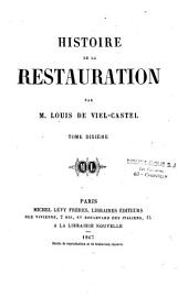 Histoire de la restauration: Volume10