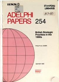 British Strategic Priorities in the 1990s PDF
