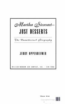 Martha Stewart   Just Desserts PDF