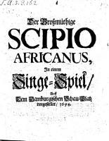 Der Gro  m  thige Scipio Africanus PDF