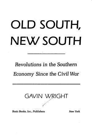 Old South/new South