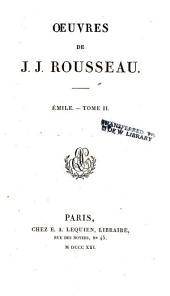 Œuvres de J.J. Rousseau: Émile