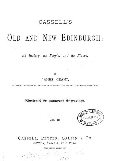 Cassell s old and new Edinburgh PDF
