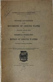 Principles and conditions of the movements of ground water