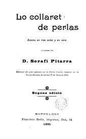 Lo Collaret de perlas: drama en tres actes y en vers...