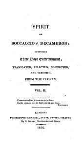 Spirit of Boccaccio's Decameron; comprising three days entertainment, tr., and versified, from the Italian