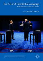 The 2016 US Presidential Campaign PDF