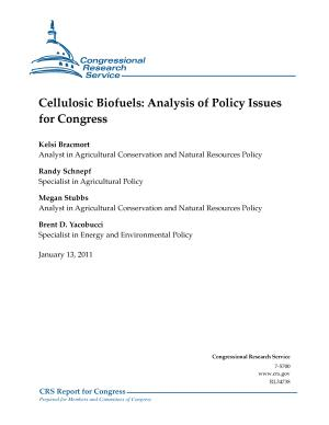 Cellulosic Biofuels: Analysis of Policy Issues for Congress