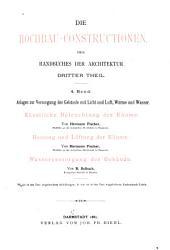 Handbuch der Architektur  Die Hochbauconstructionen PDF