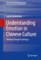 Understanding Emotion in Chinese Culture PDF