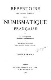 Répertoire des sources imprimés de la numismatique français