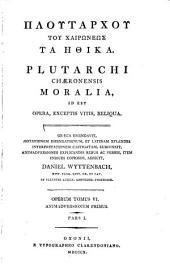 Ploutarchou ... Ta ēthika: Animadversiones