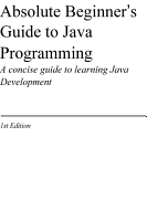 Absolute Beginner s Guide to Java Programming PDF