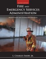 Fire and Emergency Services Administration  Management and Leadership Practices PDF