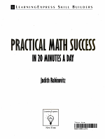 Practical Math Success in 20 Minutes a Day PDF