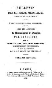 Bulletin des sciences médicales: troisième section du Bulletin universel des sciences et de l'industrie, Volume17