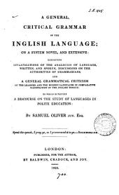 A general critical grammar of the Inglish language, on a system novel and extensive
