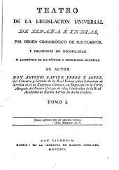 Teatro de la Legislación Universal de España e Indias