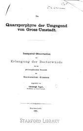 Die Quarzporphyre der Umgegend von Gross-Umstadt