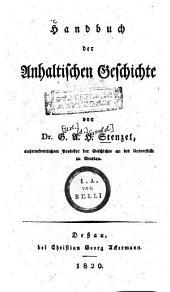 Handbuch der Anhaltischen Geschichte