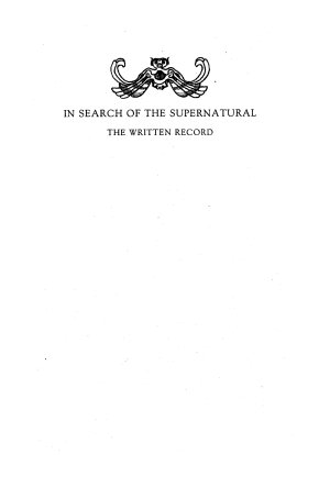 In Search of the Supernatural PDF