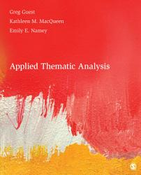 Applied Thematic Analysis Book PDF
