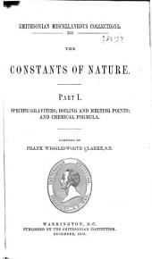 The Constants of Nature: Part I.-[V] ...