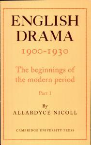 English Drama  1900 1930 PDF