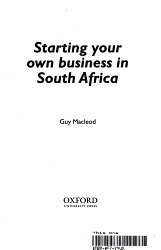 Starting Your Own Business In South Africa Book PDF