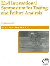 ISTFA 1997  International Symposium for Testing and Failure Analysis PDF