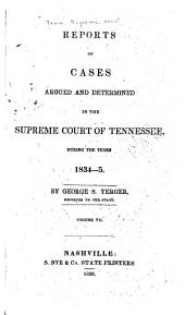Reports of Cases Argued and Determined in the Supreme Court of Tennessee: Volume 15