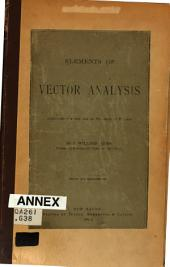 Elements of Vector Analysis: Arranged for the Use of Students in Physics