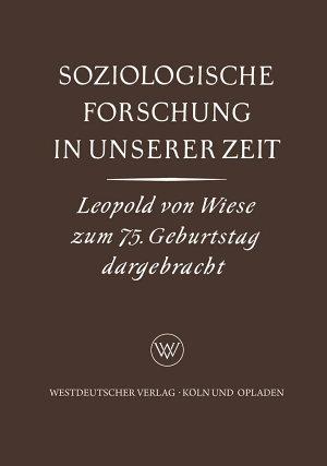 Soziologische Forschung in Unserer Zeit PDF
